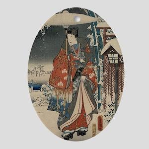 Japanese Art Print #1 Oval Ornament