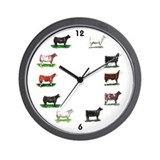 Angus cattle Wall Clocks