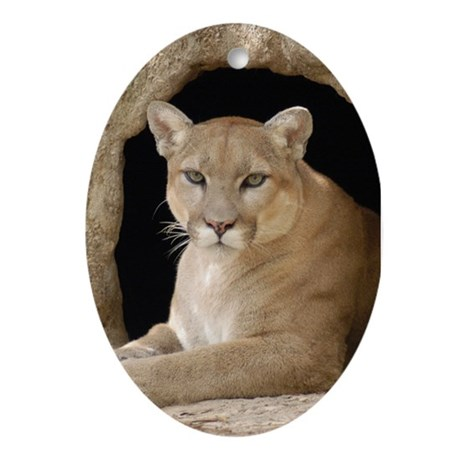 Cougar Oval Ornament