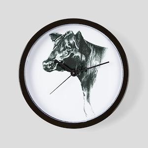Angus Cow Wall Clock