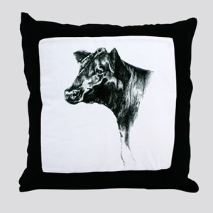 Angus Cow Throw Pillow