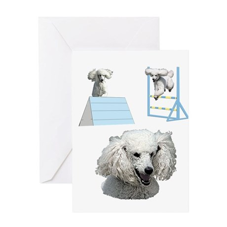 Proudly Owned Poodle Greeting Card