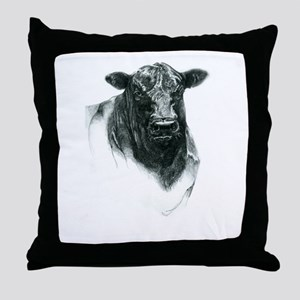 Angus Bull Throw Pillow
