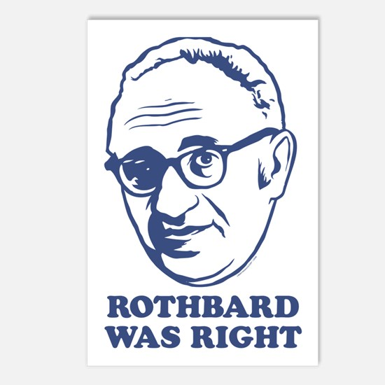 Rothbard Was Right Postcards (Package of 8)