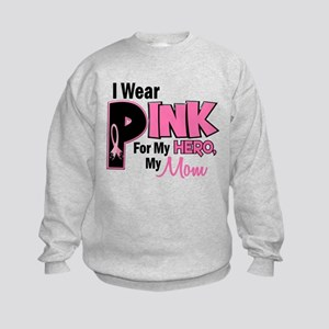 I Wear Pink For My Mom 19 Kids Sweatshirt