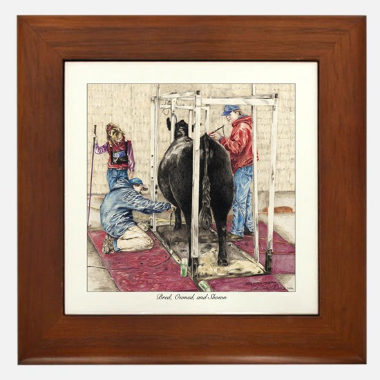 """Bred Owned and Shown"" Framed Tile"
