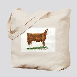 Hereford Heifer Tote Bag