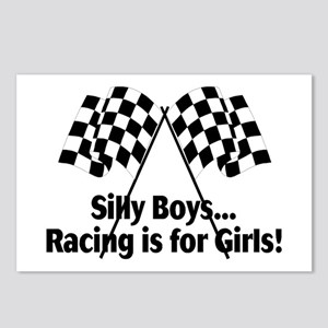 Silly Boys, Racing Is For Girls Postcards (Package