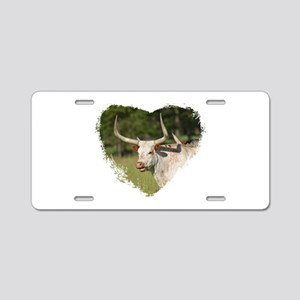 Loving Longhorns Aluminum License Plate
