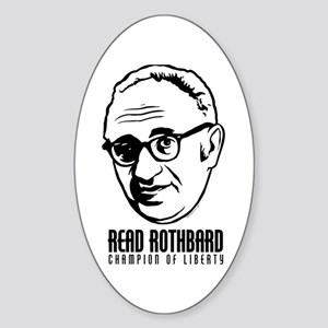 Read Rothbard Oval Sticker