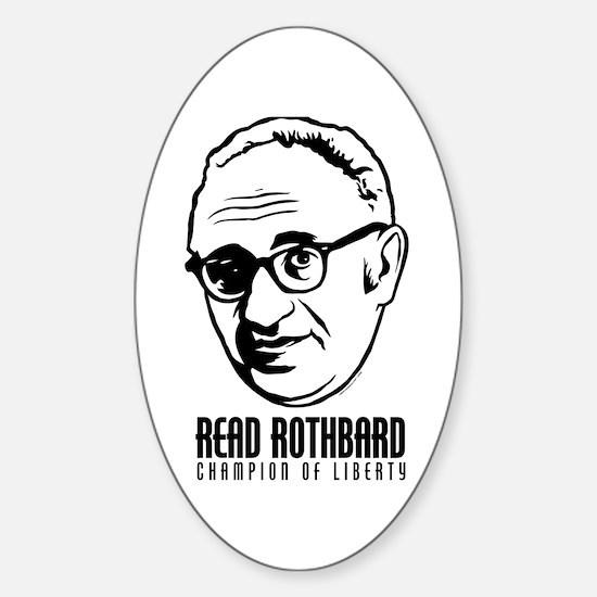 Read Rothbard Oval Decal