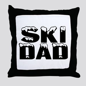 Ski Dad Throw Pillow
