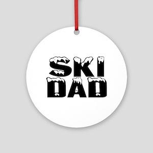 Ski Dad Ornament (Round)