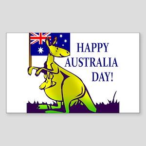 Australia Day Rectangle Sticker