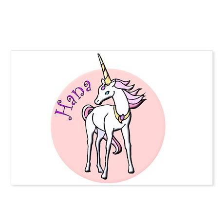 Hana Unicorn Postcards (Package of 8)