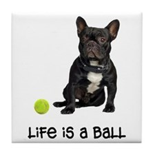 French Bulldog Life Tile Coaster