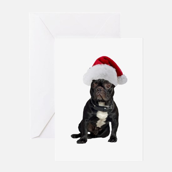 French Bulldog Christmas Greeting Card