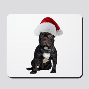 French Bulldog Christmas Mousepad