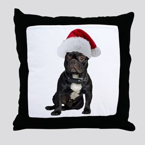 French Bulldog Christmas Throw Pillow
