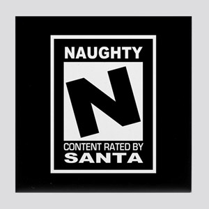 Rated N for Naughty Tile Coaster