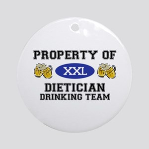 Property of Dietician Drinking Team Ornament (Roun