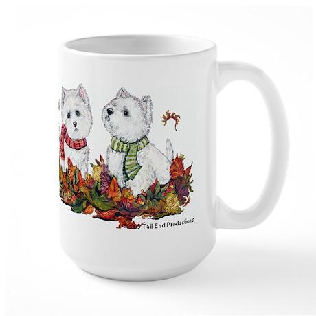 West Highland White Terrier Leaves Large Mug