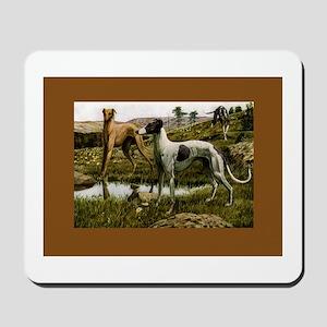 Three Greyhounds Mousepad