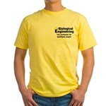 Smart Biological Engineer Yellow T-Shirt