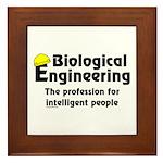 Smart Biological Engineer Framed Tile