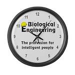 Smart Biological Engineer Large Wall Clock