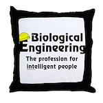 Smart Biological Engineer Throw Pillow