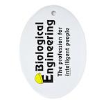 Smart Biological Engineer Oval Ornament