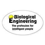 Smart Biological Engineer Oval Sticker