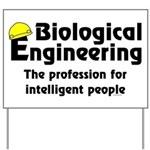 Smart Biological Engineer Yard Sign
