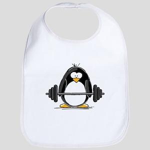 Weight lifting penguin Bib