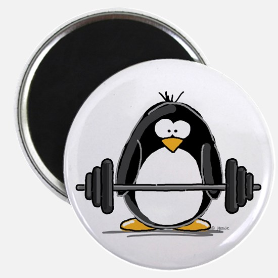 Weight lifting penguin Magnet