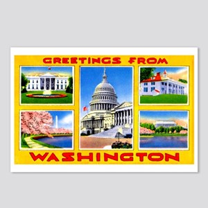 Washington DC Greetings Postcards (Package of 8)