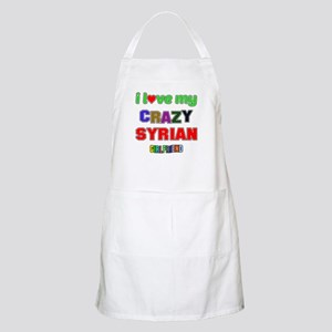 I Love My Crazy Syrian Girlfriend Light Apron