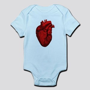 Vintage Anatomical Human Heart Infant Bodysuit