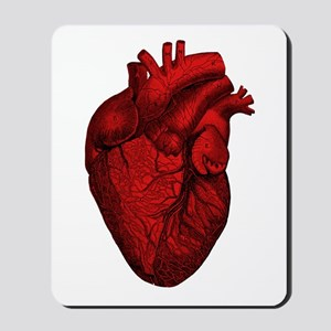 Vintage Anatomical Human Heart Mousepad