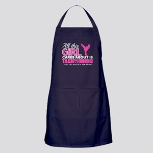 All This Girl Cares About Are Taekwon Apron (dark)