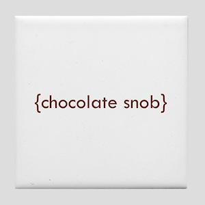 Chocolate Snob Tile Coaster