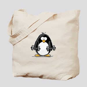 Weight lifting penguin 2 Tote Bag