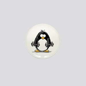 Weight lifting penguin 2 Mini Button