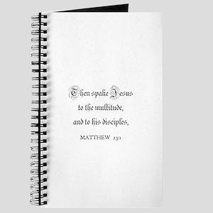 MATTHEW 23:1 Journal