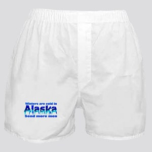 Cold in Alaska send men Boxer Shorts