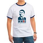 WWRD - What Would Reagan Do? Men's Ringer T