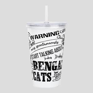Bengal Cat Acrylic Double-wall Tumbler