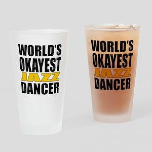 Worlds Okayest Jazz Drinking Glass