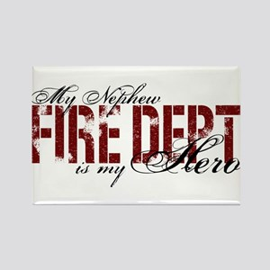 My Nephew My Hero - Fire Dept Rectangle Magnet